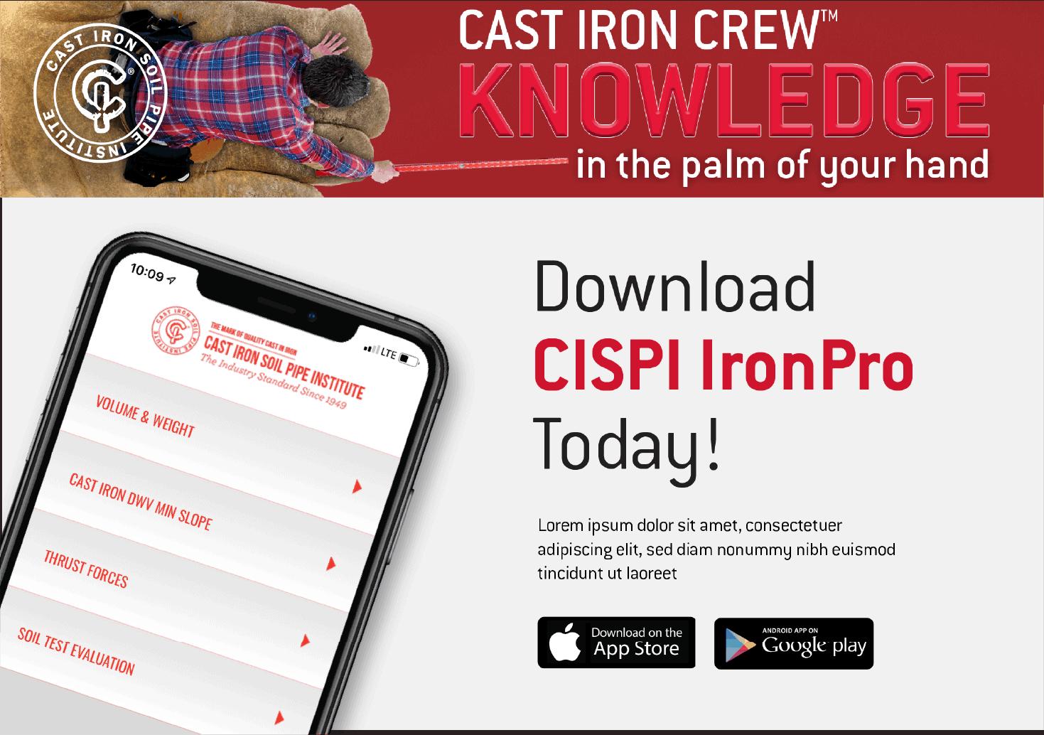 CISPI Mobile App Ad 2