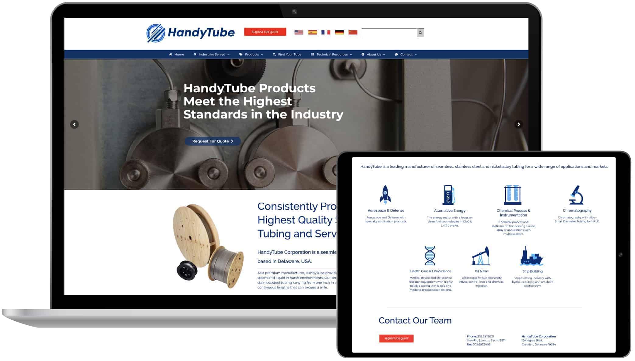 HandyTube Website Design